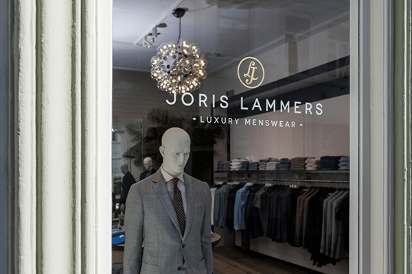 Interieur kledingzaak Joris Lammers
