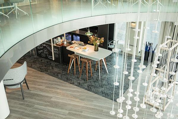 interieurdesign kantine Rabobank